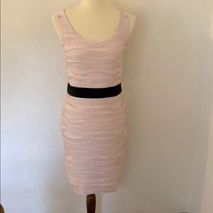 Pale pink & black sleeveless dress from H&M size S
